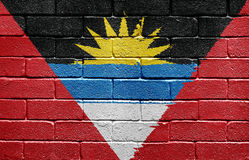 Flag of Antigua and Barbuda on brick wall Royalty Free Stock Photography