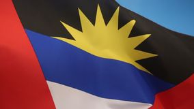 Flag of Antigua and Barbuda. The national flag of Antigua and Barbuda dates from the achievement of self-government in 1967. The rising sun symbolizes the stock video