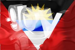 Flag of Antigua wavy government Royalty Free Stock Photo