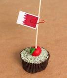 Flag on a apple cupcake, Bahrain Stock Photo