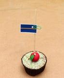 Flag on a apple cupcake, nauru Stock Photo