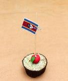 Flag on a apple cupcake, swaziland Stock Photo
