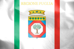 Flag of Apulia, Italy. Royalty Free Stock Images