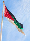 Flag of the Arab Revolt outdoors in Aqaba city Royalty Free Stock Image