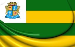 Flag of Aracaju, Brazil. Stock Photos