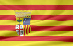 Flag of Aragon - Spain. Very large flag of the spanish province of Aragon Royalty Free Stock Photos