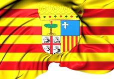 Flag of Aragon, Spain. Royalty Free Stock Photos