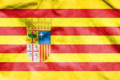 Flag of Aragon, Spain. Royalty Free Stock Photography