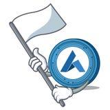 With flag Ardor coin mascot cartoon. Vector illustration Royalty Free Stock Photos