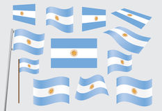 Flag of Argentina. Set of flags of Argentina vector illustration Royalty Free Stock Photos