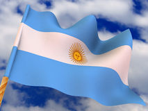 Flag. Argentina Royalty Free Stock Photo
