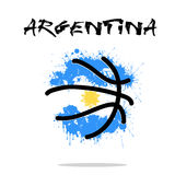 Flag of Argentina as an abstract basketball ball. Abstract basketball ball painted in the colors of the Argentina flag. Vector illustration Stock Images
