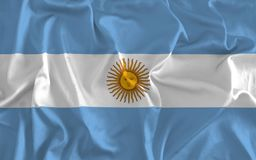 Flag of Argentina Background, Argentine Banner stock illustration