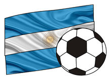 Flag of Argentina and a ball Stock Photo