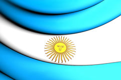 Flag of Argentina. 3D Flag of the Argentina. Close Up Royalty Free Stock Photo