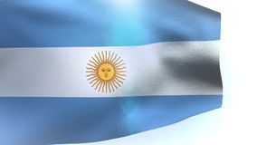 Flag of Argentina with flagpole waving in the wind. Video stock footage