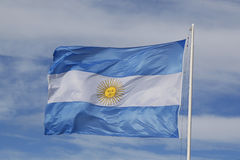 Flag of Argentina Stock Photo