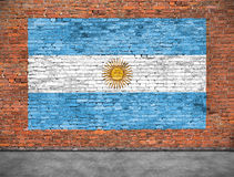 Flag of Argentina and foreground Royalty Free Stock Photography