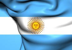 Flag of Argentina. Front View Royalty Free Stock Photos