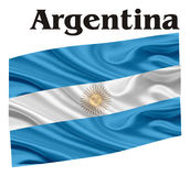 Flag of Argentina. Argentina flag with his name Stock Photography