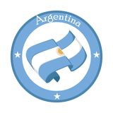 Flag of Argentina on a label. Vector illustration design Royalty Free Stock Photos
