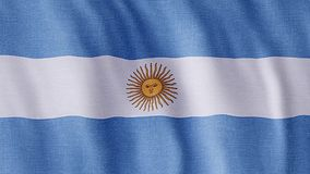 Flag Of Argentina stock video