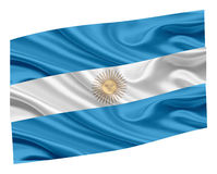 Flag of Argentina. National flag of Argentina on a white background Stock Photo