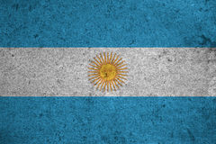 Flag. Argentina flag on an old grunge background Royalty Free Stock Images