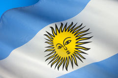 Flag of Argentina - South America Stock Photography
