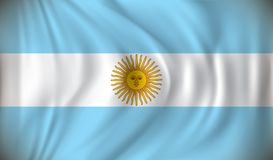 Flag of Argentina. Vector illustration Royalty Free Stock Images