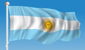 Flag of Argentina. Vector illustration Royalty Free Stock Photography