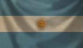 Flag of Argentina. Vintage background with flag of Argentina. Grunge style Stock Image