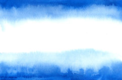 Flag of Argentina in watercolor stile. Blue watercolor stains Stock Images