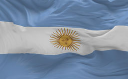 Flag of the Argentina waving in the wind Stock Photos