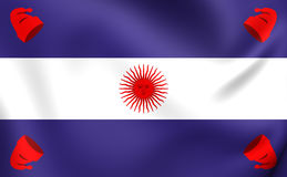 Flag of the Argentine Confederation Stock Images