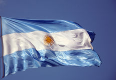 Flag of Argentine Stock Photo