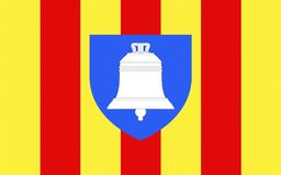 Flag of Ariege, France. Flag of Ariege is a department in the Languedoc-Roussillon-Midi-Pyrenees region of southwestern France named after the Ariege River. Its vector illustration