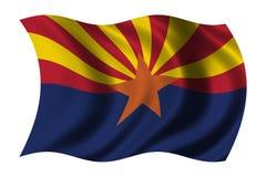 Flag of Arizona. Waving in the wind vector illustration