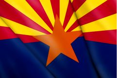 Flag of Arizona (USA). This is an illustration of folded flag Stock Photography