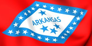 Flag of Arkansas, USA. Royalty Free Stock Image