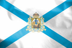 Flag of Arkhangelsk Oblast, Russia. Royalty Free Stock Photography
