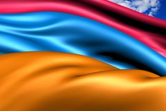 Flag of Armenia Royalty Free Stock Photo
