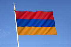 Flag of Armenia. The national flag of Armenia, the Armenian Tricolor or Yeraguyn. The Armenian Supreme Soviet adopted the current flag on 24th August 1990 royalty free stock image