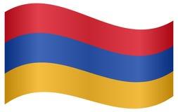 Flag of Armenia waving Stock Photo