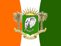 FLAG AND ARMS OF THE IVORY COAST Royalty Free Stock Image