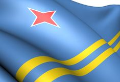 Flag of Aruba Royalty Free Stock Photo