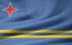 Flag of Aruba Royalty Free Stock Image