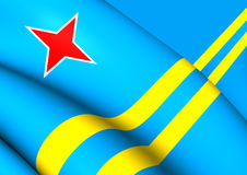 Flag of Aruba. Close Up Stock Photo