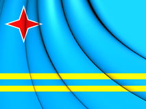 Flag of Aruba. 3D Illustration Stock Photo