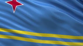Flag of Aruba seamless loop stock video